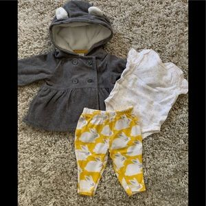 3 piece baby carters outfit